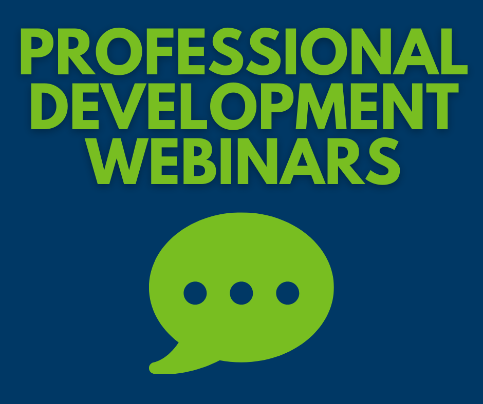 Professional Development Webinars